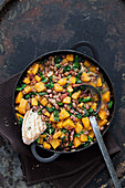 Butternut Squash, bean and kale stew