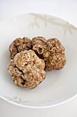 Fresh white alba truffles