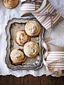 Fruit Mince Swirls für Weihnachten (Aufsicht)