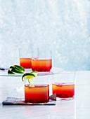 Caprioska mit Granatapfel und Wodka