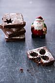 Kakaokekse zu Weihnachten