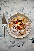 Fig and white currant galette