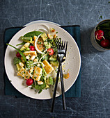Avocado and radish salad