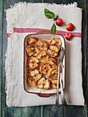 Gebackene Äpfel aus dem Ofen