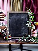 Schiefertafel zum Beschriften für süßes Buffet