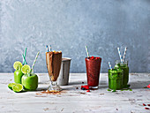Four powerfood smoothies