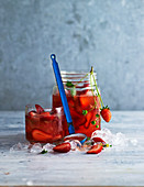 Strawberry and basil iced tea