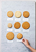 Biscuit experimentation with different ingredients