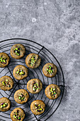 Vegan and gluten free tahini almond cookies