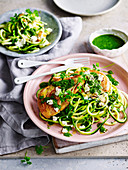 Chicken and Zucchini with Salsa Verde
