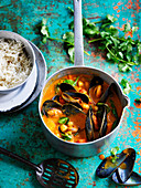 Mussel and Chickpea Korma