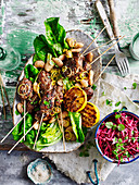 Lamb Koftas with White Beans