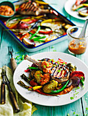 Spanish Pork Cutlets with vegetable