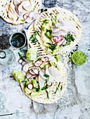 Tacos mit Kingfish-Ceviche