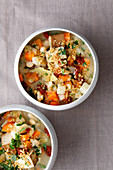 Veggie cassoulet with smoked tofu