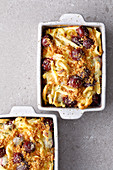 Sweet Swabian egg noodle bake with cherries