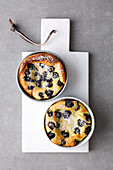 One-pot clafoutis with blueberries