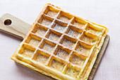 A cornflakes waffle