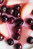 Blueberry and pear compote
