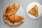 Fondue waffles