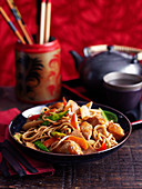 Chicken chow mein (China)