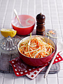Coleslaw with cream dressing