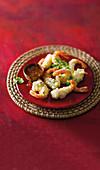 Nori tempura prawns