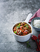 Lentil and pilchard curry