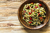 Orzo pasta salad with herbs