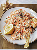 Coleslaw served on Boxing day at Christmas time
