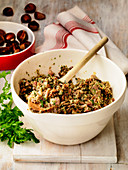 Turkey stuffing with mushrooms and chestnuts