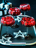 Rasperry jellies with Vodka for Christmas