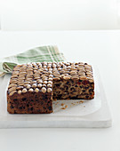 Christmas fruit cake with almond