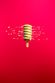 Abstract image of a twister ice cream lolly spinning and melting