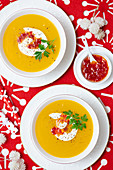 Parsnip and carrot soup with ginger