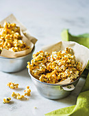 Rosemary and peanut caramel corn