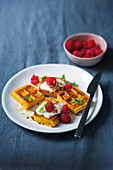 Butternut and apple waffles