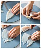 Preparing calamari tubes