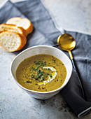 Turnip, apple and thyme soup