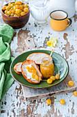 Gelbe Kirschmarmelade