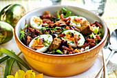 Lyonnaise salad (bacon and egg salad, France) for Easter
