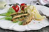 Italian-style Baltic herring with parsley, chilli, garlic and lemon served with Parmesan mashed potatoes