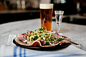 Swedish-style tapas with beer