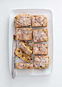 Egg-free fruit cake tray bake