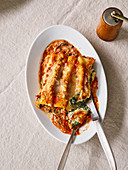 Quick ricotta and basil cannelloni