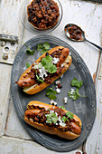 Chilli dogs (hot dogs with homemade chilli, USA)