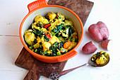 Saag Aloo (Curry mit Kartoffeln und Spinat, Indien)