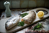 Fresh cod with dill and lemon