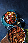 Red wine beef ragu with tagliatelle