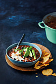 Mexican-style chicken and black beans
